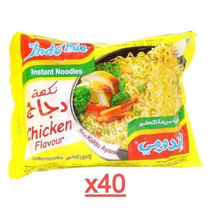 كرتون اندومي نكهة الدجاج 40 قطعة