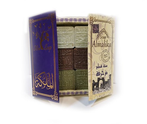 "Coffret de Savons d'Alep calligraphiés version ""Purple"""