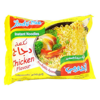"""Nouilles instantannées """"saveur poulet """" INDOMIE 80 grx5"""