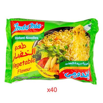 Nouilles instantannées saveur légumes INDOMIE 80gr X 40