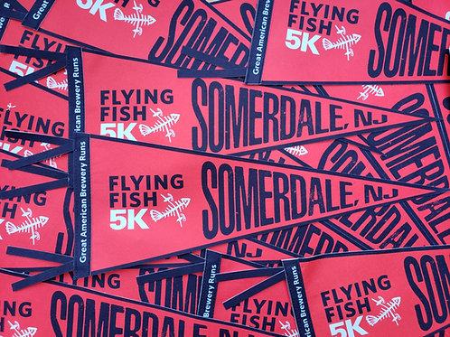 Flying Fish 5k Race Pennant