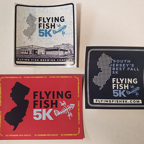 Flying Fish Sticker and Magnet bundle