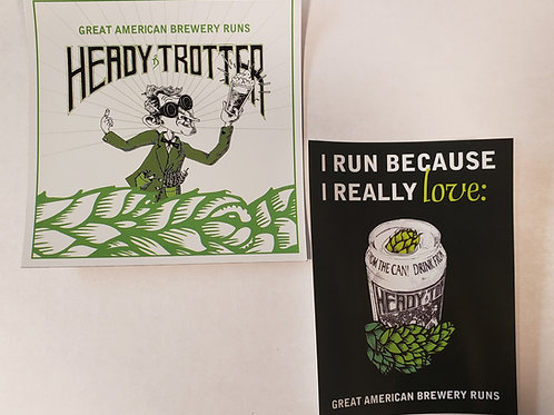 Heady Trotter Stickers and Magnet bundle