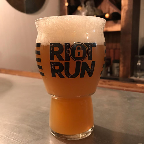 2019 Riot Run Finishers Glass