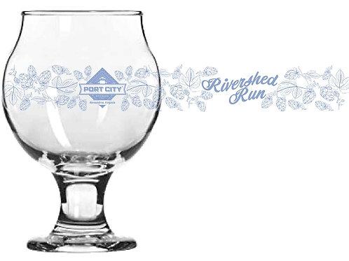 2021 Rivershed Run Finishers Glass