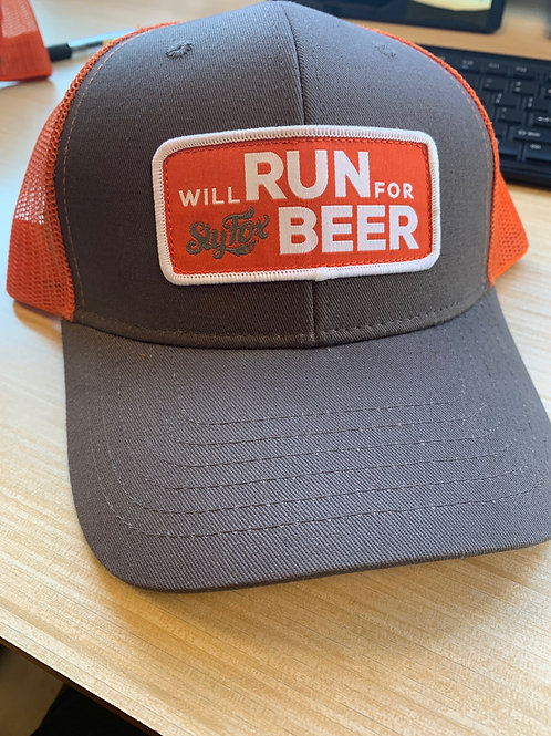 Will Run for Sly Fox Beer Truckers Hat
