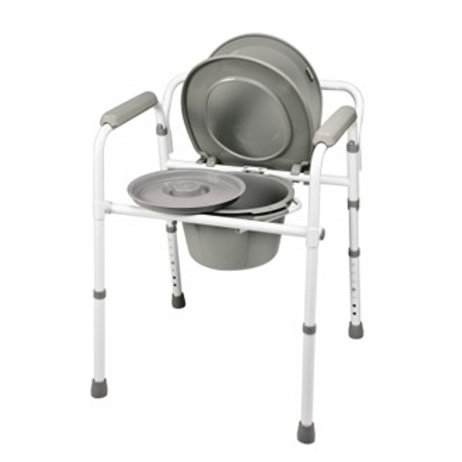 Lumex 3-in-1 Folding Commode