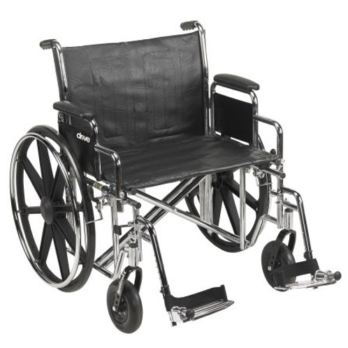 McKesson Heavy Duty Manual Wheelchair w/ Detachable Padded Desk Arm