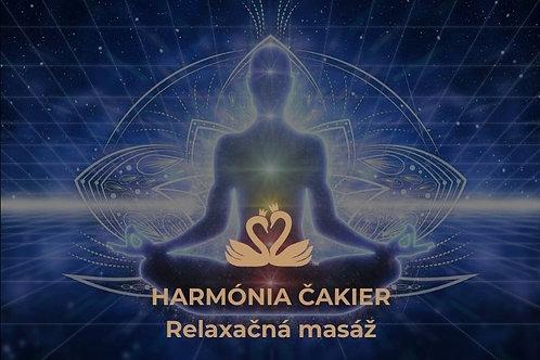 Relaxačná masáž HARMÓNIA ČAKIER ♂ ♀ ⚤, 60 - 90min.