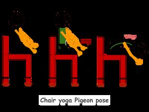 Chair yoga Pigeon pose