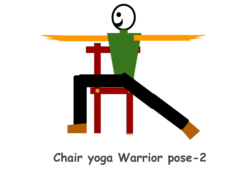 Chair-yoga-Warrior-pose-2