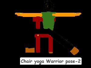 Chair-yoga-Warrior-pose-2