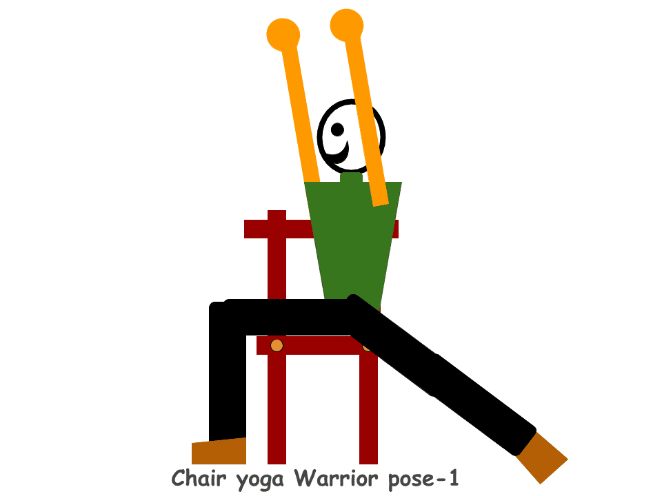 Chair-yoga-Warrior-pose-1