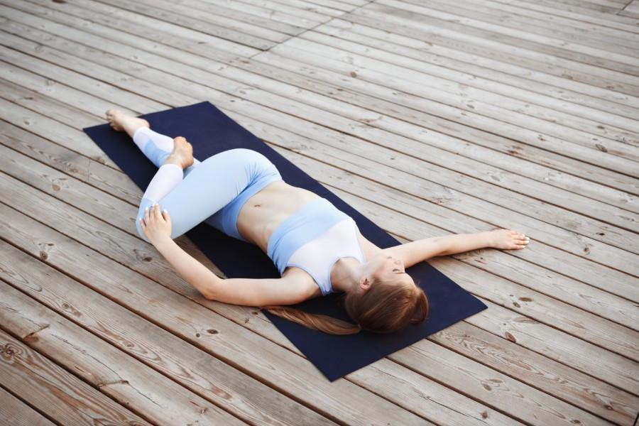 lying on side pose