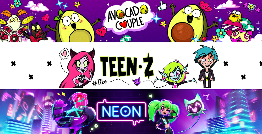 TheSoul Publishing animation channels, Avocado Couple, Teen-Z & Neon