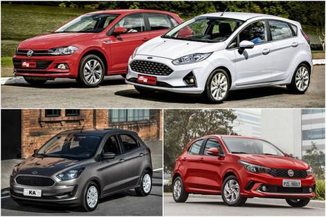 Como Fiat, Volkswagen e Ford deixaram seus compactos mais caros