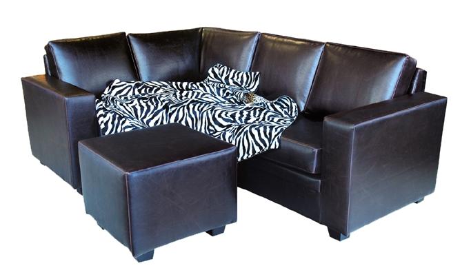 Витория угловой диван с банкеткой