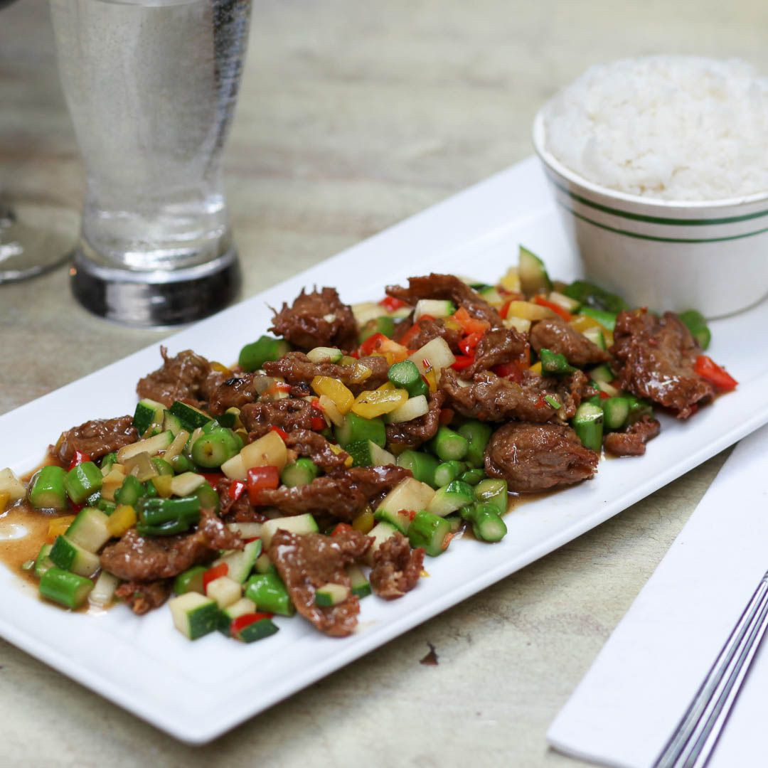 Citrus Beef With Asparagus