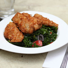 Almond Coconut Chicken & Kale