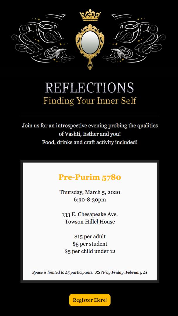 Purim Event Invite, 2020