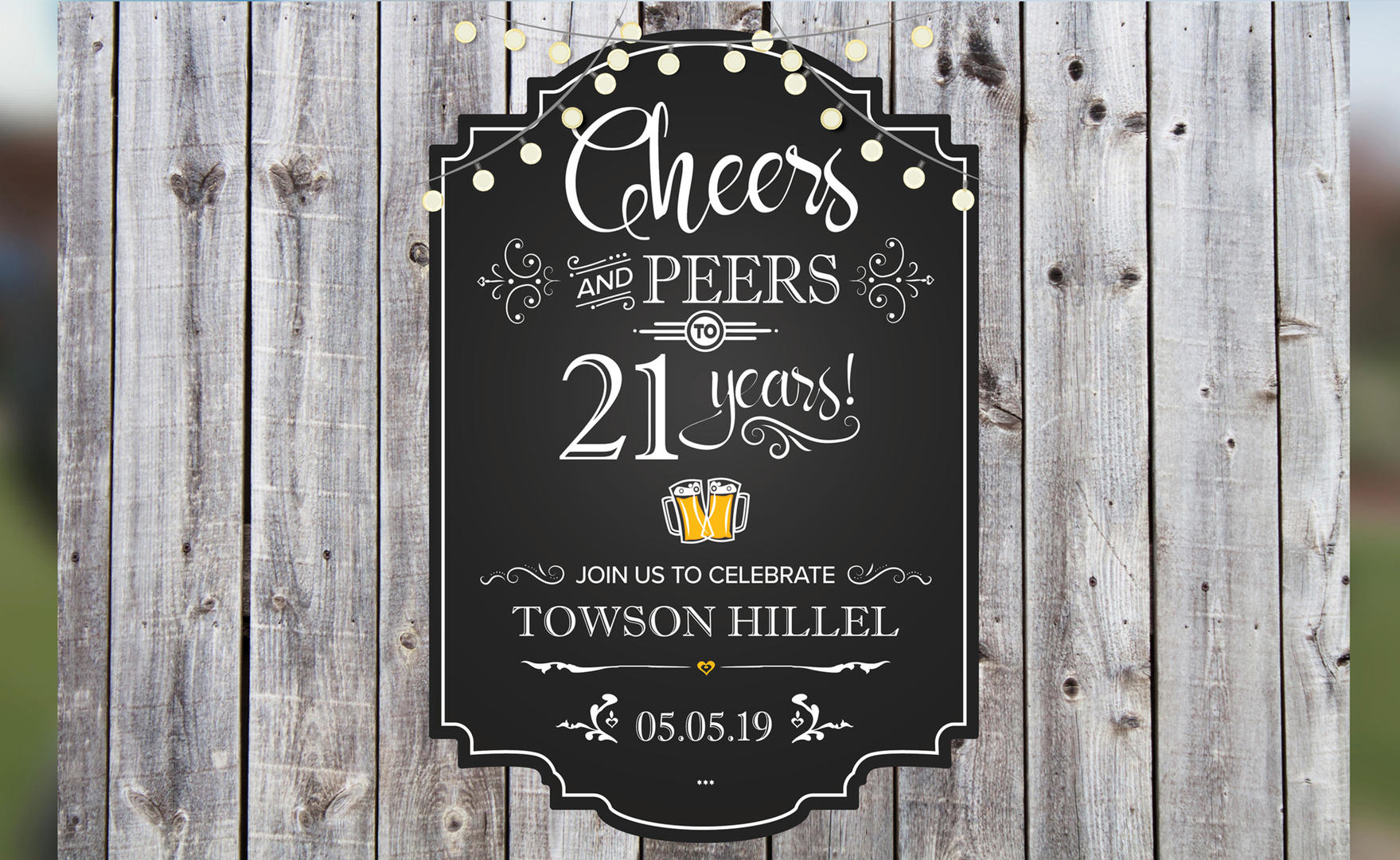 Event Logo—Cheers to 21 Years!