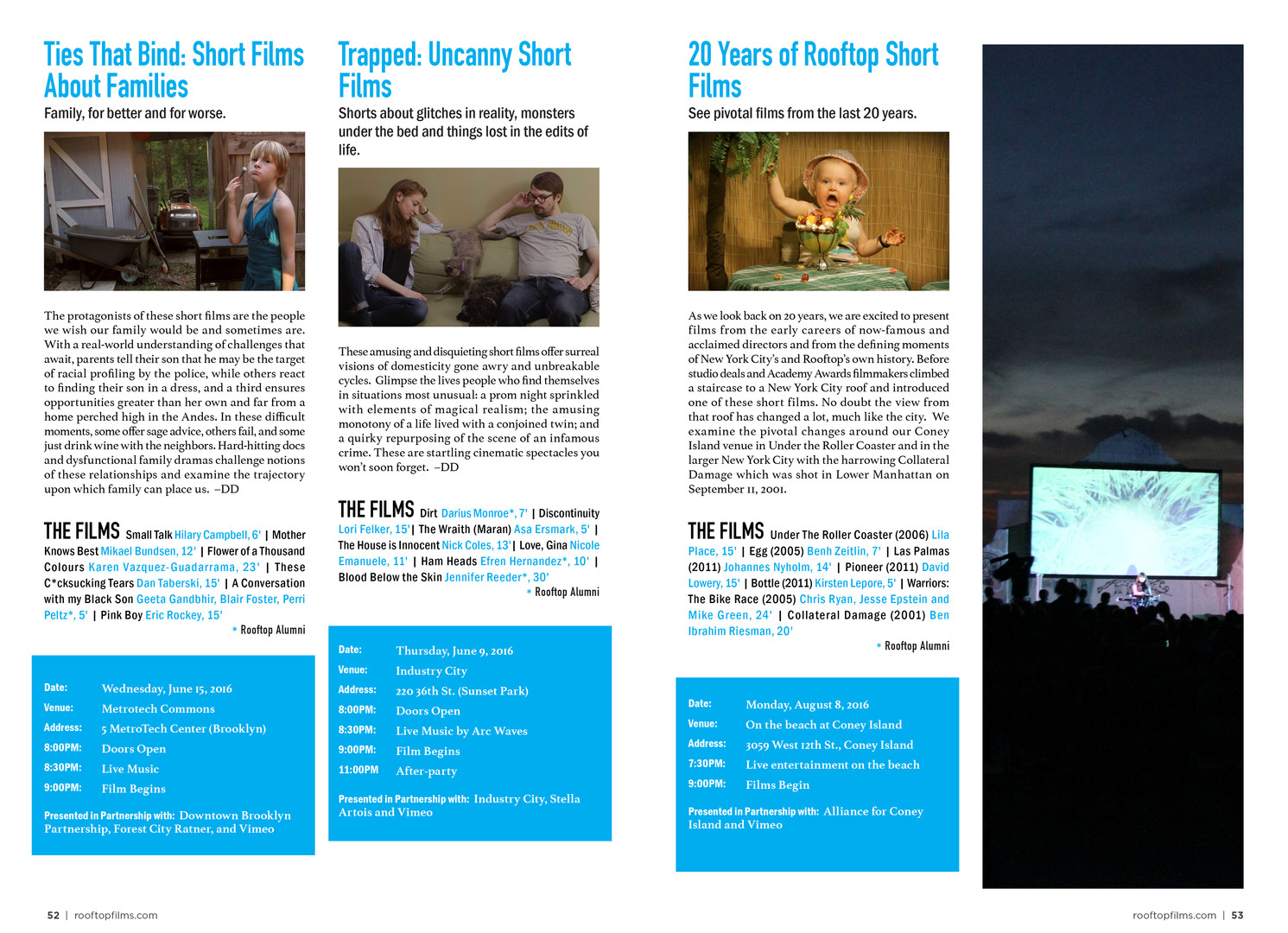 Short Films Spread