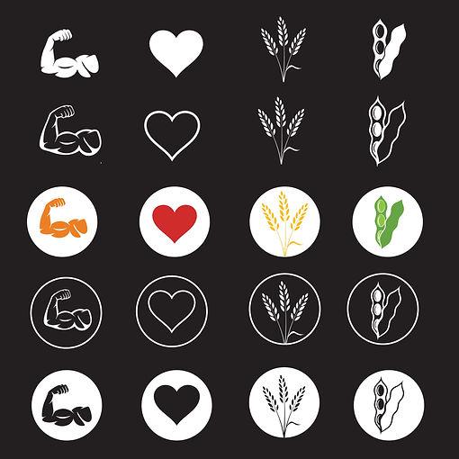 Absolute Vegan icon design
