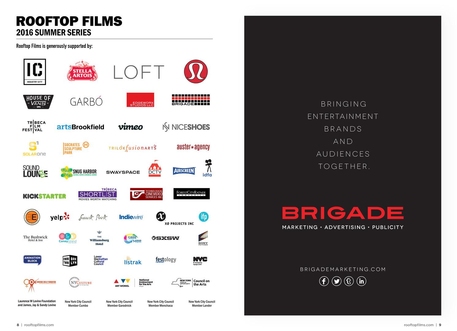 Sponsor Logos | Partner Advertisement