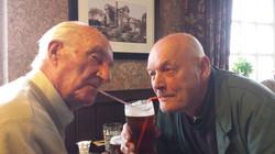 Durham and John sharing a pint