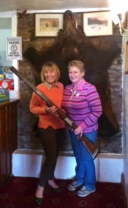 Ladies and Gun in Wild Boar Inn