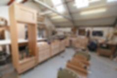 bespoke handmade solid oak kitchen made in our own workshop