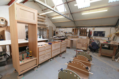 bespoke handmade solid oak kitchen made in our own workshop