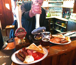 Beer and Full English Breakfast