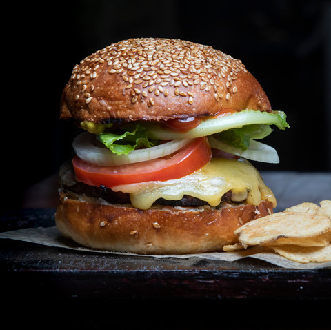 Hamburguesa artesanal hecha en casa. Lo mejor !!!