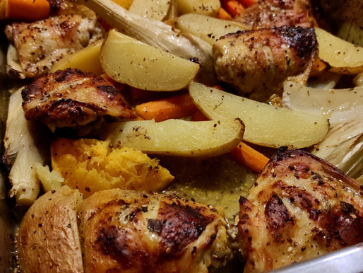 Plateau de poulet au za'atar