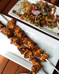 chicken tikka and papdi chaat