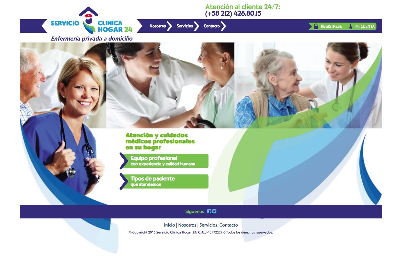 pag. web-servicios clínica hogar 24