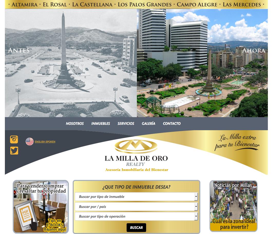 pag. web-LA MILLA DE ORO REALTY