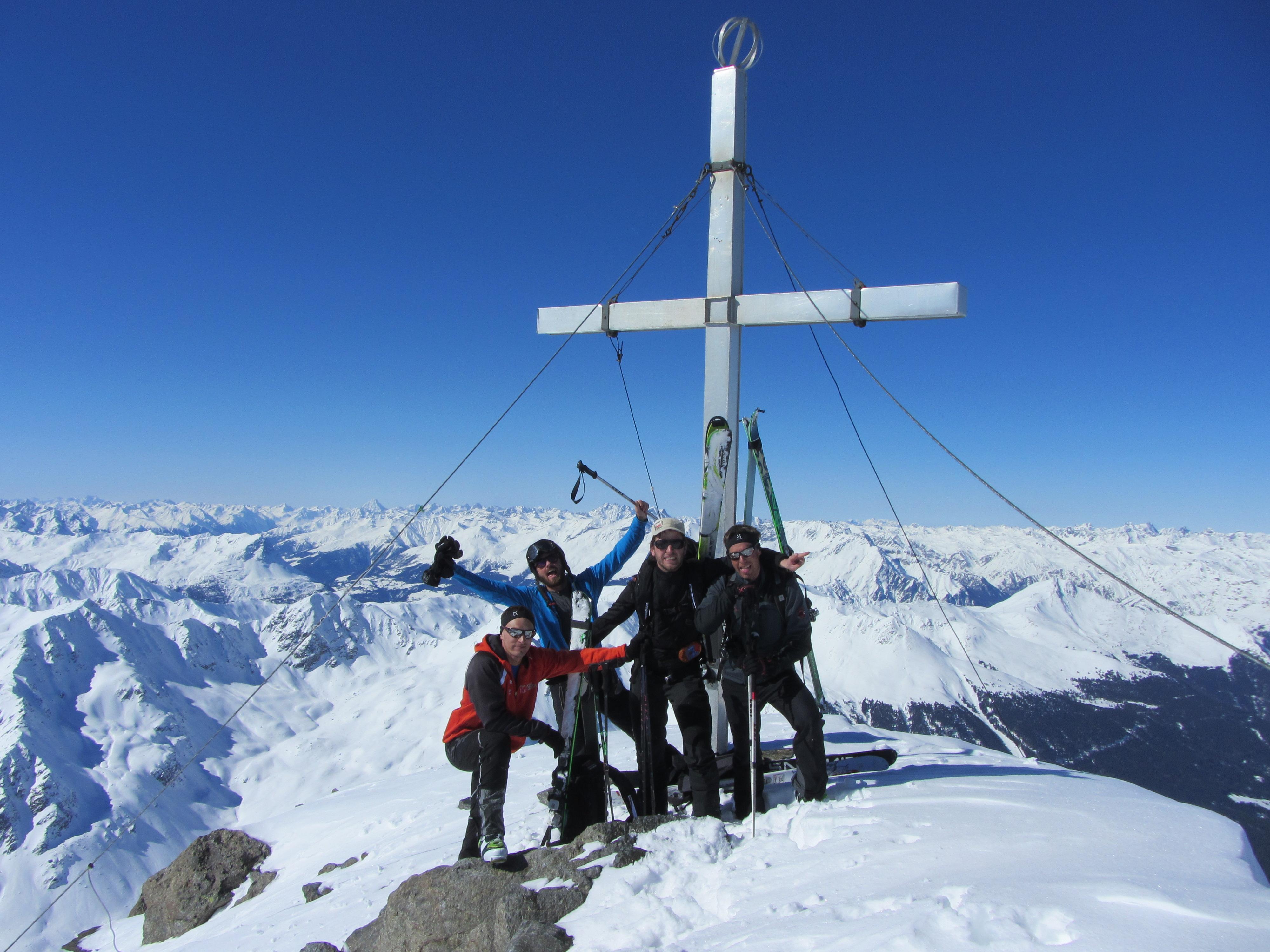 Gipfelsieg am Glockturm
