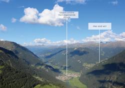 Blick auf Pfunds & Lage vom Berghof
