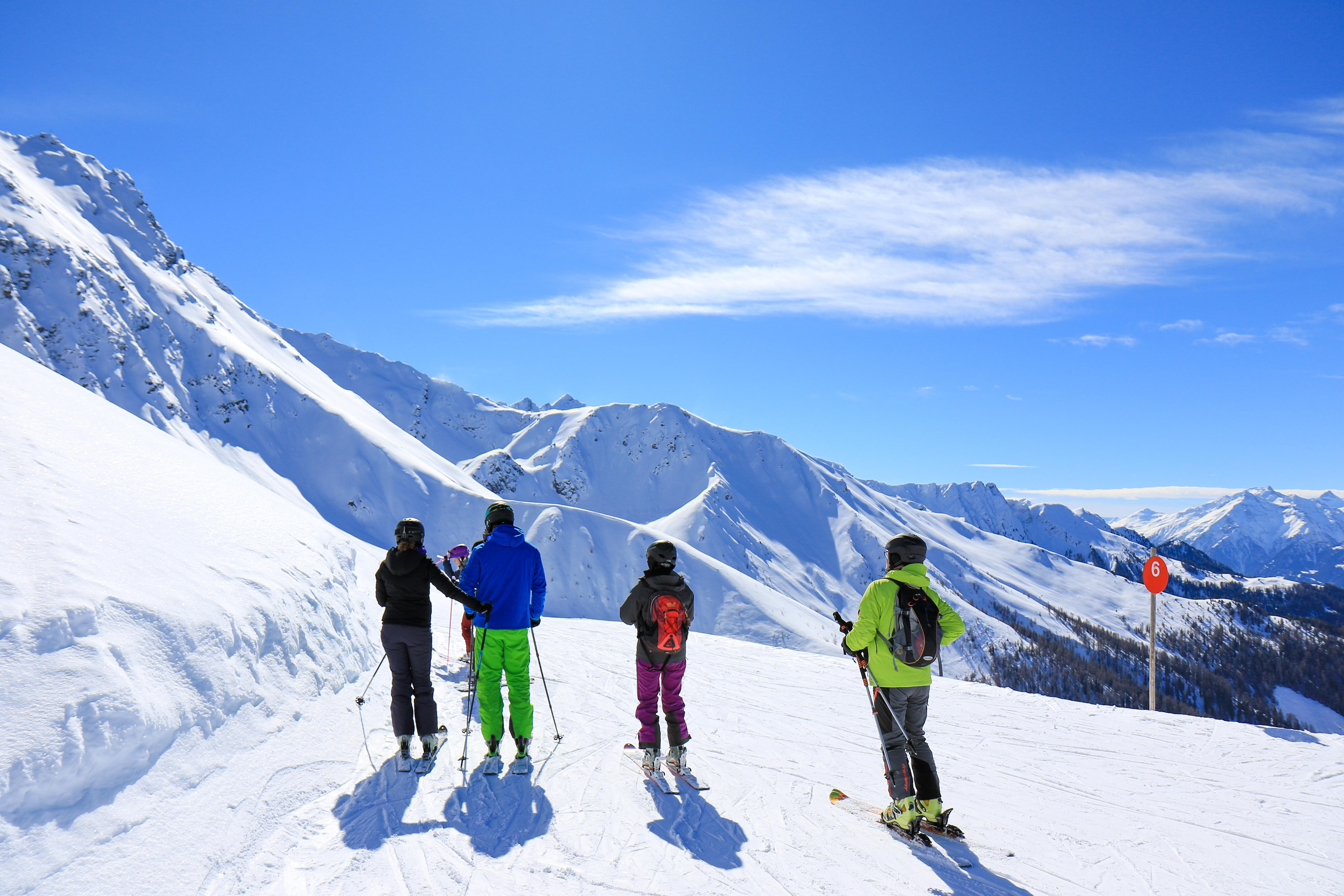 Skifahren Fendels