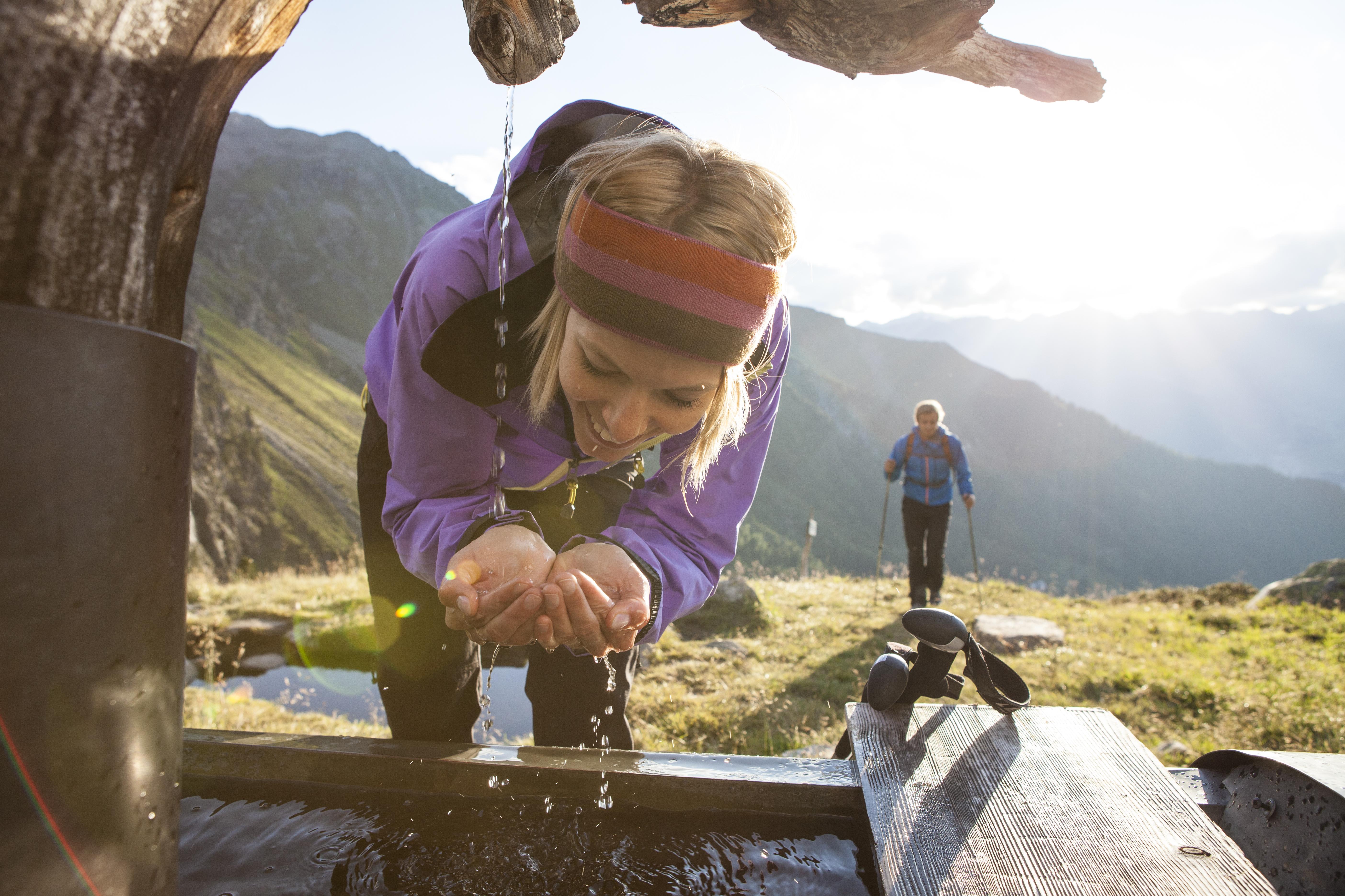 Erfrischendes Bergquellwasser
