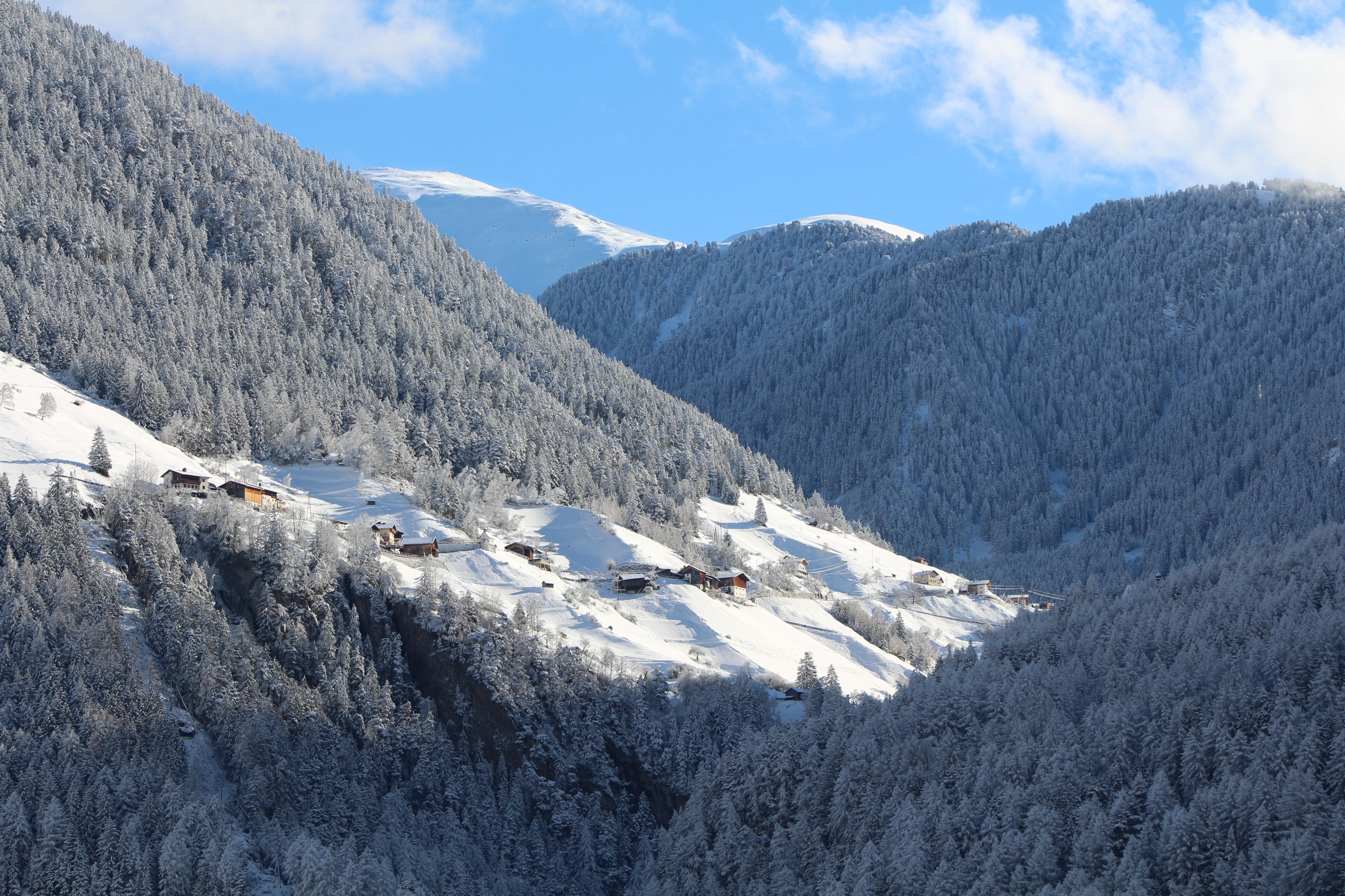 Greit & Berghof im Schnee