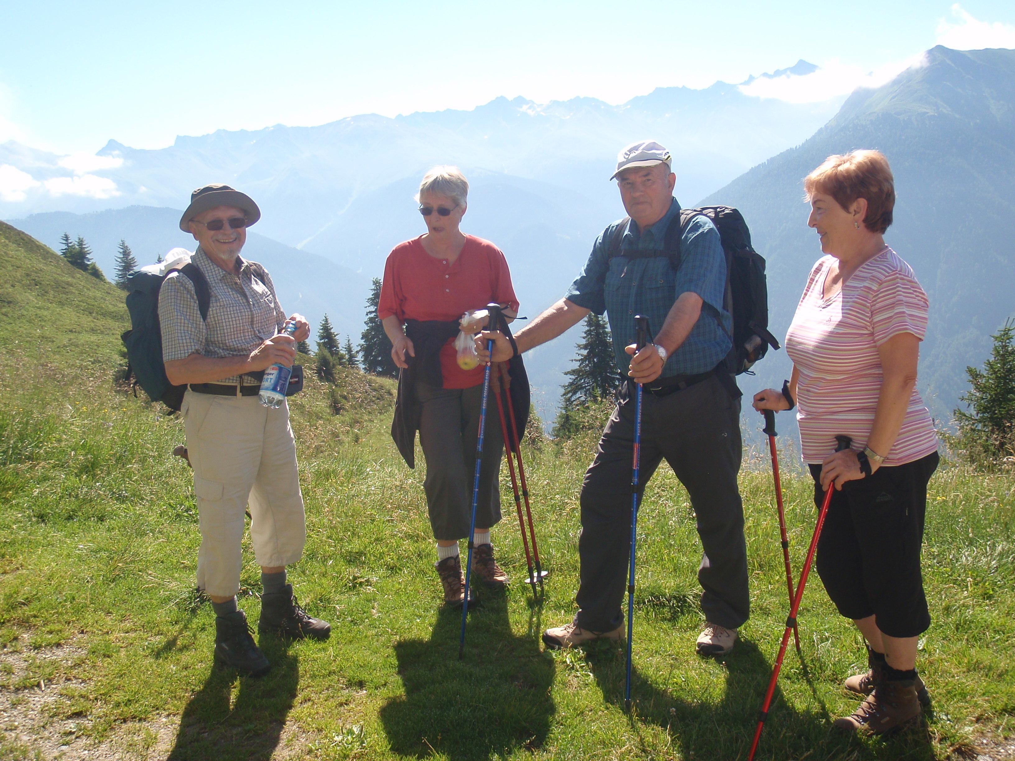 Unsere Gäste beim Wandern