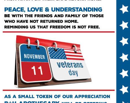 Veteran's Day - 25% Off OTC
