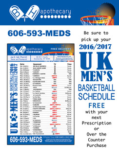 UK Men's Basketball Schedules