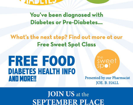 October 20th Free Diabetic Health Class