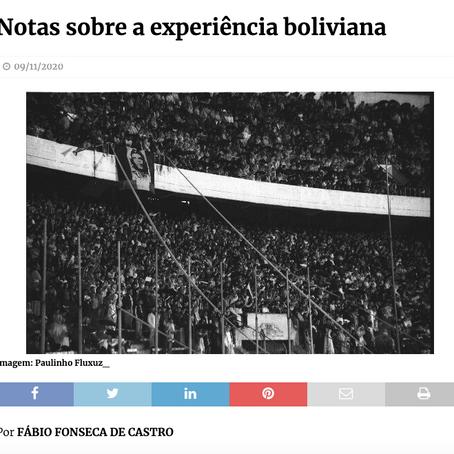 Notas sobre a experiência boliviana