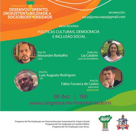 Mesa redonda Políticas Culturais, Democracia e Inclusão Social