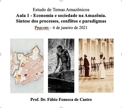 Economia e sociedade na Amazônia - Curso no Ppgcom